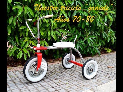 Triciclo grande antiguo años 70-80