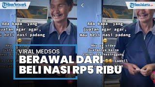 Berawal dari Video Viral Beli Nasi Rp5.000, Pedagang Agar-agar di Garut ini Dapat Donasi Rp100 Juta