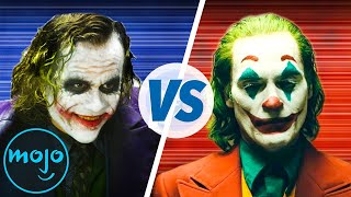 "Playing the Joker can take everything out of you, learn how Joaquin Phoenix transformed himself into the iconic character, right here!: https://youtu.be/CP4LtGXi5oc  The Joker... versus the Joker. Heath Ledger... versus Joaquin Phoenix. Two incredible actors … one role. Join WatchMojo as we pit the late, great Heath Ledger against living legend Joaquin Phoenix to see who gave us the superior big screen incarnation of iconic Batman villain, the Joker, from their portrayals in ""The Dark Knight"" (2008) and ""Joker"" (2019), respectively. Come along as we evaluate a wide-range of categories to determine which interpretation of the Clown Prince of Crime reigns supreme. Which Joker performance is your favorite? Let us know why in the comments below!  Check out more awesome Joker content from WatchMojo below: Top 10 Reasons Joker Will Blow Your Mind: https://www.youtube.com/watch?v=hDozDSDM2BY Top 10 Things You Need to Know About Joker (2019): https://www.youtube.com/watch?v=ozsOfSKZCKw Why Joaquin Phoenix Is Meant to Be the Joker: https://www.youtube.com/watch?v=ixJzcnJF8JM  Have an idea you want to see made into a WatchMojo video? Check out our suggest page at http://watchmojo.com/suggest and submit your idea.  Subscribe: http://goo.gl/Q2kKrD and also Ring the Bell to get notified // Have a Top 10 idea? Submit it to us here! http://watchmojo.com/suggest  #Joker #JoaquinPhoenix #HeathLedger  Check our our other channels! http://www.youtube.com/mojoplays http://www.youtube.com/mojotalks http://www.youtube.com/msmojo http://www.youtube.com/jrmojo http://www.youtube.com/watchmojouk  WatchMojo's Social Media Pages http://www.Facebook.com/WatchMojo http://www.Twitter.com/WatchMojo  http://instagram.com/watchmojo   Get WatchMojo merchandise at shop.watchmojo.com  WatchMojo's ten thousand videos on Top 10 lists, Origins, Biographies, Tips, How To's, Reviews, Commentary and more on Pop Culture, Celebrity, Movies, Music, TV, Film, Video Games, Politics, News, Comics, Superheroes. Your trusted authority on ranking Pop Culture."