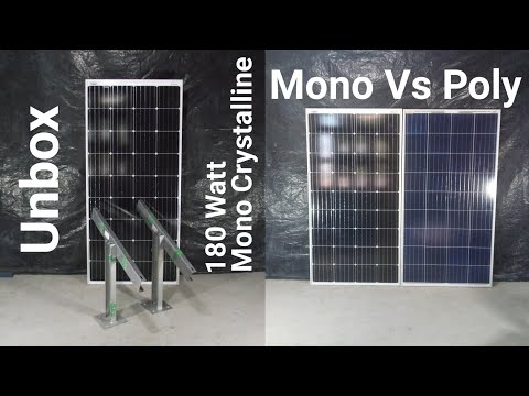 Loom Solar Panel 180 Wt Mono Crystalline Panel Made With German Mono-Perc, Made In India