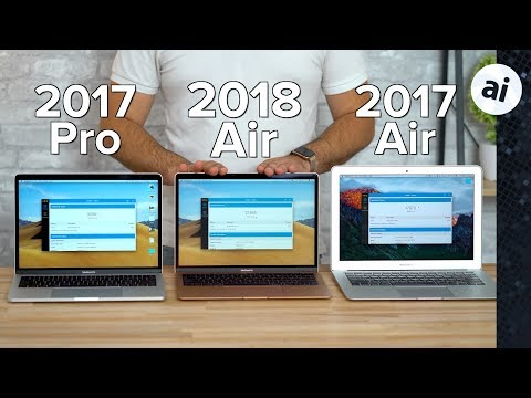"2018 MacBook Air vs 13"" MacBook Pro & Old MacBook Air"