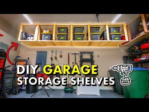 Reclaim your GARAGE w/ DIY Garage Storage Shelves 🚘 FREE PLANS!