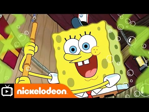 Spongebob & Patrick Confront The Psychic Wall Of Energy - Bob Esponja