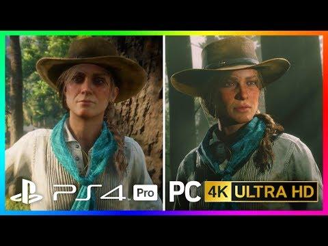 Red Dead Redemption 2 Console VS PC Graphics Comparison - PS4 Pro/Xbox One X VS 4K RDR2 PC Graphics!