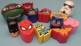 Surprise Egg Opening Memory Game for Kids!  Batman Spider-Man Paw Patrol PJ Masks Peppa Pig!
