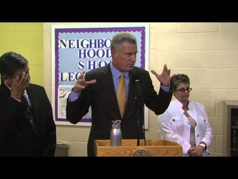 Mayor de Blasio Visits Senior Centers to Provide Information on Legionnaires' Disease