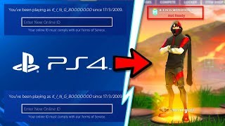 how to change ps4 name in fortnite for new psn id change tutorial guide - how to change fortnite name on ps4 2019