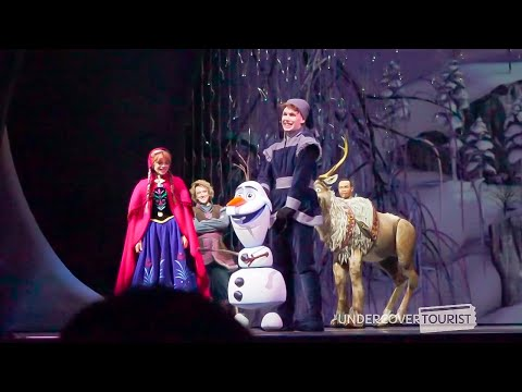 Join the story of Princess and Queen Elsa in this theatrical interpretation! Frozen Live at the Hyperion Theater is nearly an hour long show at Disney California ...