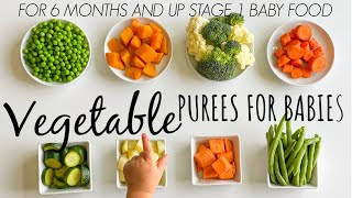 8 VEGETABLE PUREE  for babies 6 months and up