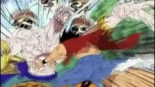 OnePiece Luffy Pwns Eneru   Funimation Dub!