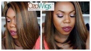 OzoWigs Full Lace  Long BOB Hair  BOB014 + Styling Reviewed By FiercelyChocolate