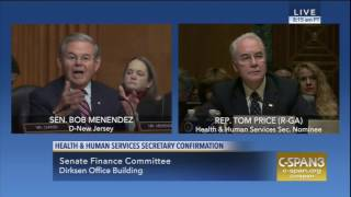 Menendez Questions Price on Medicaid