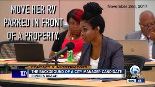 The background of a city manager candidate