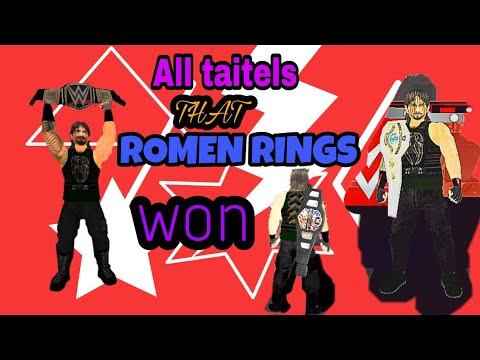 All Champions That Romen Rings Won In Wwe || In( Wr3d Mod )