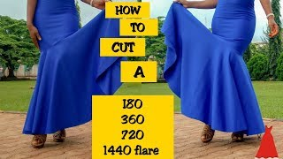 HOW TO CUT 180, 360, 720 and 1440 FLARE | STITCHADRESS |