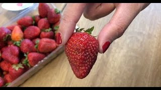 The Right Way To Eat A Strawberry - Never Waste Fruit At End Near Stem