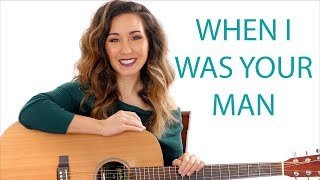 When I Was Your Man   Bruno Mars Guitar Tutorial With Play Along