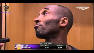 Kobe Bryant Post game Interview - Lakers vs Rockets | 11.19.14
