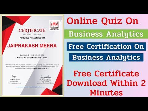 Business Analytics   Certification On Business Analytics   Free ...