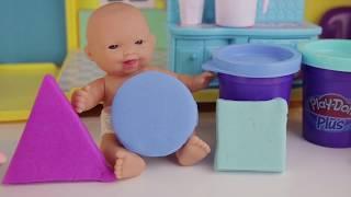Малышка Маша учим геометрические фигуры: круг, квадрат, треугольник для детей