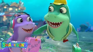 Fishes On The Reef SHARKSONS | Nursery Rhymes & Kids Songs! | Cartoons For Kids | The Sharksons