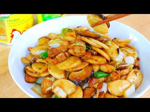 Easy Stir-Fry Rice Cakes Recipe (Nian Gao) & Win $1000 Knorr Sweepstakes, CiCi Li