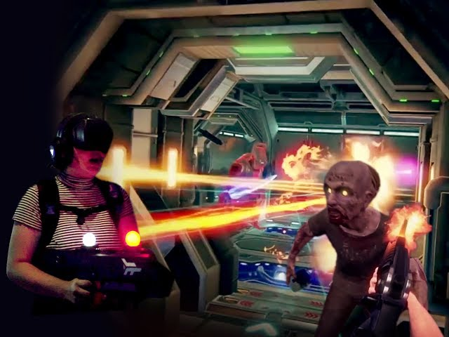 Battle zombies and space robots at new multiplayer VR game arena (video)