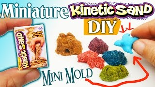 HOW TO MAKE MINIATURE REALISTIC KINETIC SAND & MOLD craft - Video Youtube