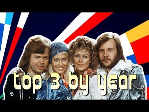 שלושת השירים הגדולים של כל שנה בתחרות האירוויזיון