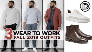 MENS WEAR TO WORK OUTFITS | Fall 2019 Try On Haul | Outfit Inspiration