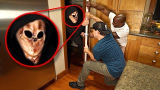 We Trapped KNOCK KNOCK in our Pantry! *SCARY*