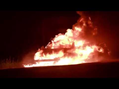 Fully Involved Car Fire - Saskatoon June 9th 2018