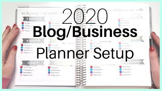 2020 Business Planner Setup | Plan With Me | Erin Condren Deluxe Monthly Planner