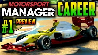 Motorsport Manager PC GAMEPLAY CAREER PART 1: IN-DEPTH PREVIEW, MY FIRST RACE!