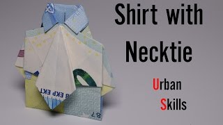 Euro Origami: Shirt With Necktie | Easy Tutorials And How To's For Everyone #Urbanskills