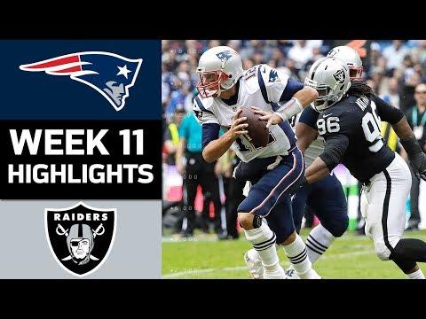Patriots vs. Raiders | NFL Week 11 Game Highlights
