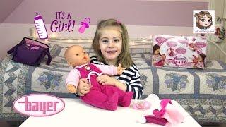 HELLO BABY - Interaktive Babypuppe mit Puppenwagen | Bayer Design