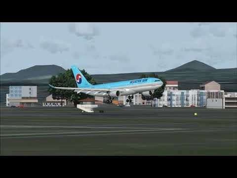 FSX]BLACKBOX A330-200 KOREAN AIR GIMHAE 36L LANDING