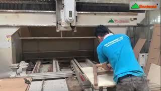Sức mạnh của máy cnc 3d 5 trục Woodmaster   Cắt, phay, khoan nhiều góc độ gia công hoàn thiện