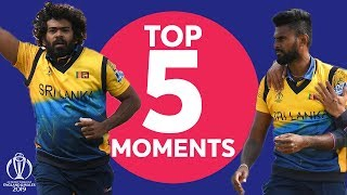 Malinga or Udana?   England vs Sri Lanka - Top 5 Moments   ICC Cricket World Cup 2019