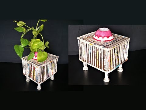 How To Make Planters Using Newspaper, Plastic Bottle & Cardboard / DIY Planters / Best Out Of Waste