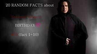 20 random Facts about Severus Snape