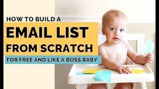 How to BUILD an Email List From Scratch? 5 Lead Magnet Ideas