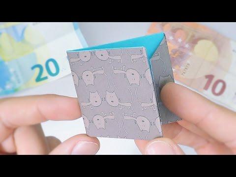 Cómo hacer una CARTERA (BILLETERA) de Papel | Origami