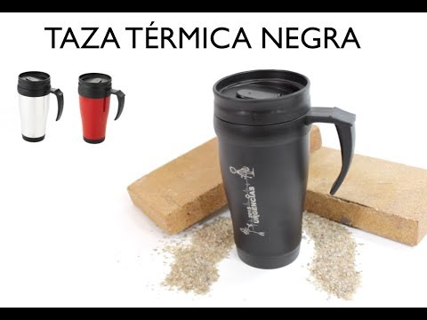 ✅ Tazas personalizadas baratas #6-Taza térmica negra