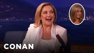 Jennifer Aniston Squeezed Kate Hudson's Butt On The Red Carpet   CONAN On TBS