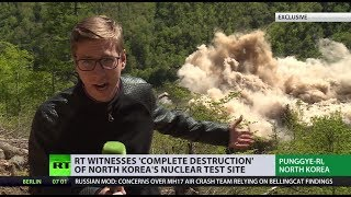 Historic demolition: RT reporter witnesses N. Korean nuclear test site blow up (EXCLUSIVE)