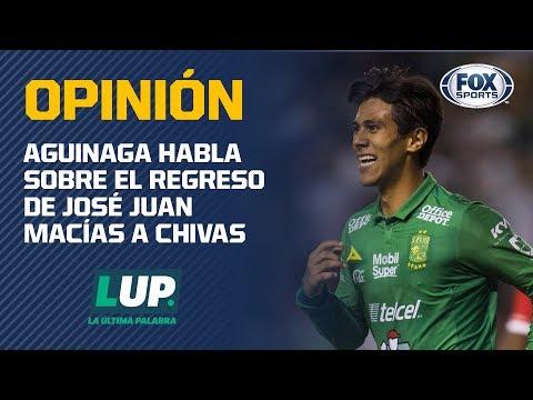 """Aguinaga sobre la vuelta de J.j. al Guadalajara: """"Regresa porque quiere jugar en Chivas"""""""