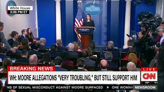 Sanders ducks question about Roy Moore