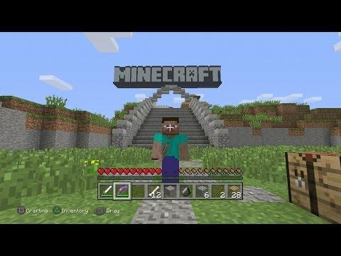 Minecraft PS3 Edition-Demo Gameplay